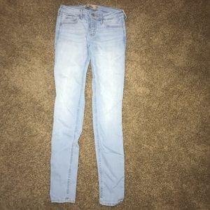 Hollister super skinny size 1R blue jeans